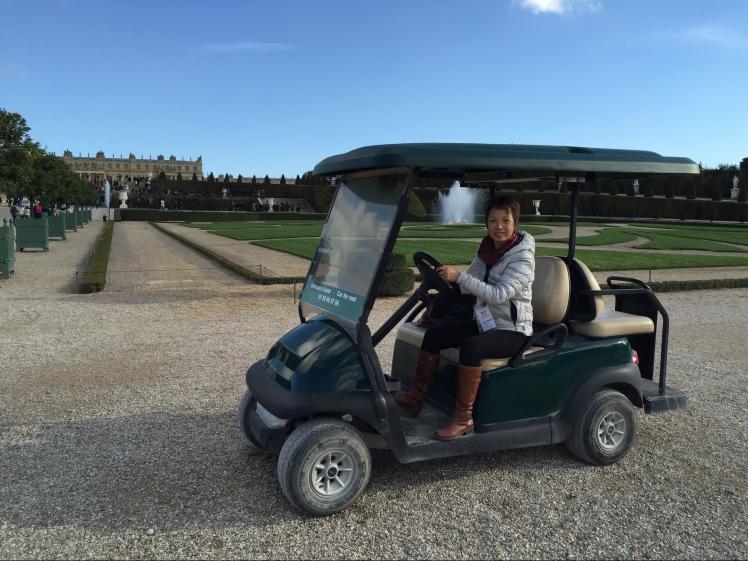 Versailles garden moving around