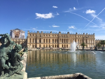 Versailles garden summer day