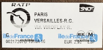 ticket to Versailles