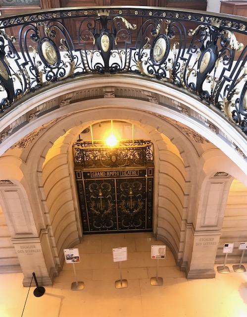 Entrance of Sorbonne Grand amphitheatre